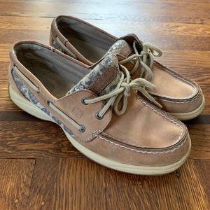 Sperry - Top Slider Boat Shoes - Sequin Leopard
